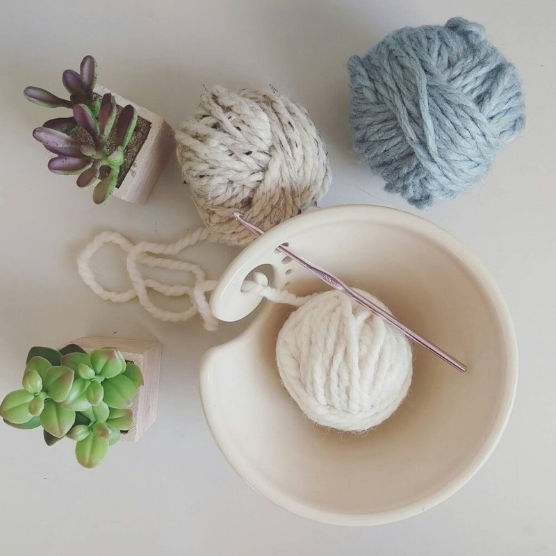 Ceramic knitting bowl Christmas gifts for mom