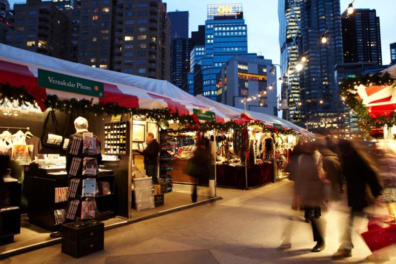 Christmas Market at Columbus Circle Christmas in New York