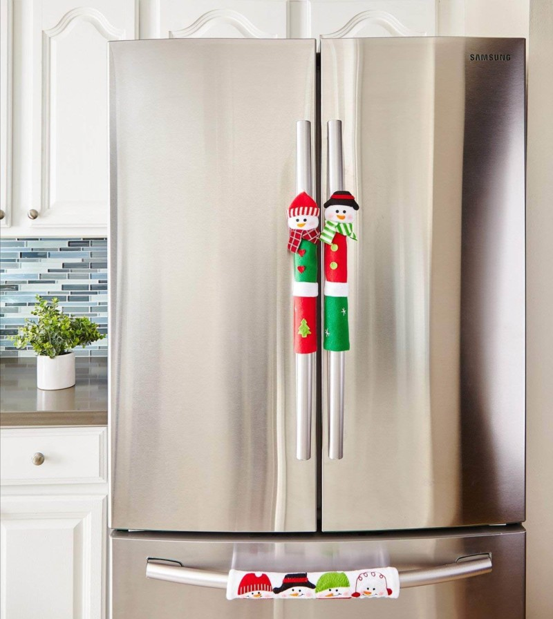 Christmas decoration for Freezer handle Christmas decorations ideas for home