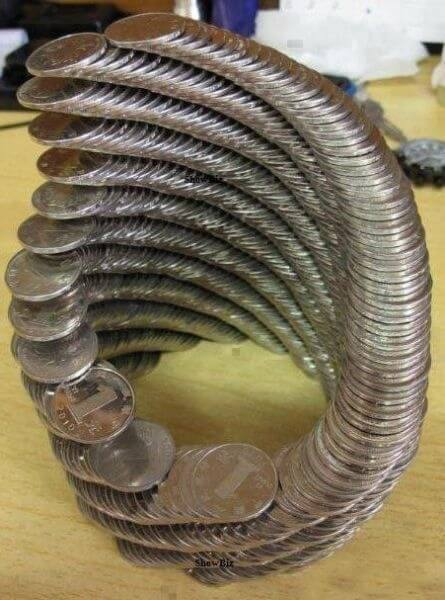 Coin tower spiral Bored At Work
