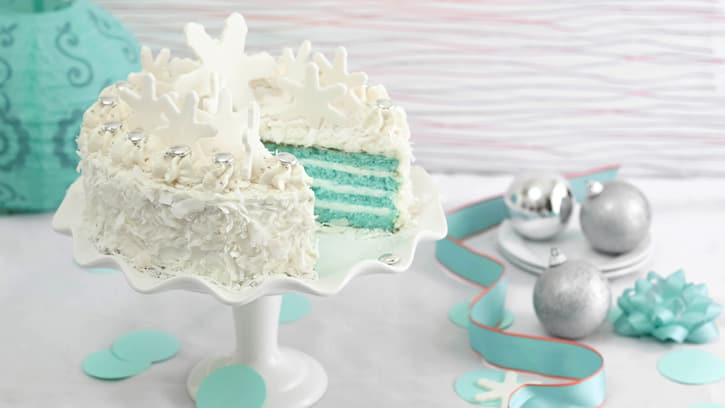 Dessert Blue Velvet Coconut Torte Christmas Food Ideas