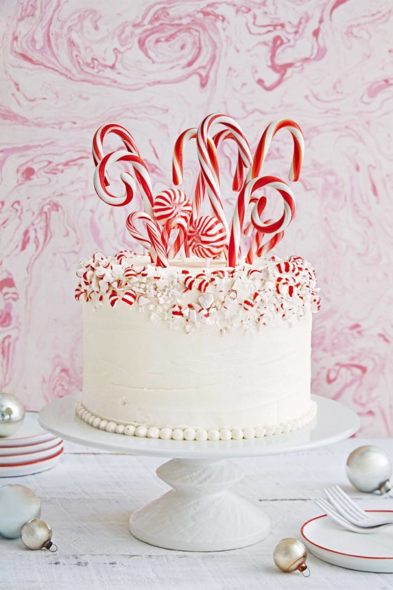 Dessert Candy Cane Forest Cake Christmas Food Ideas
