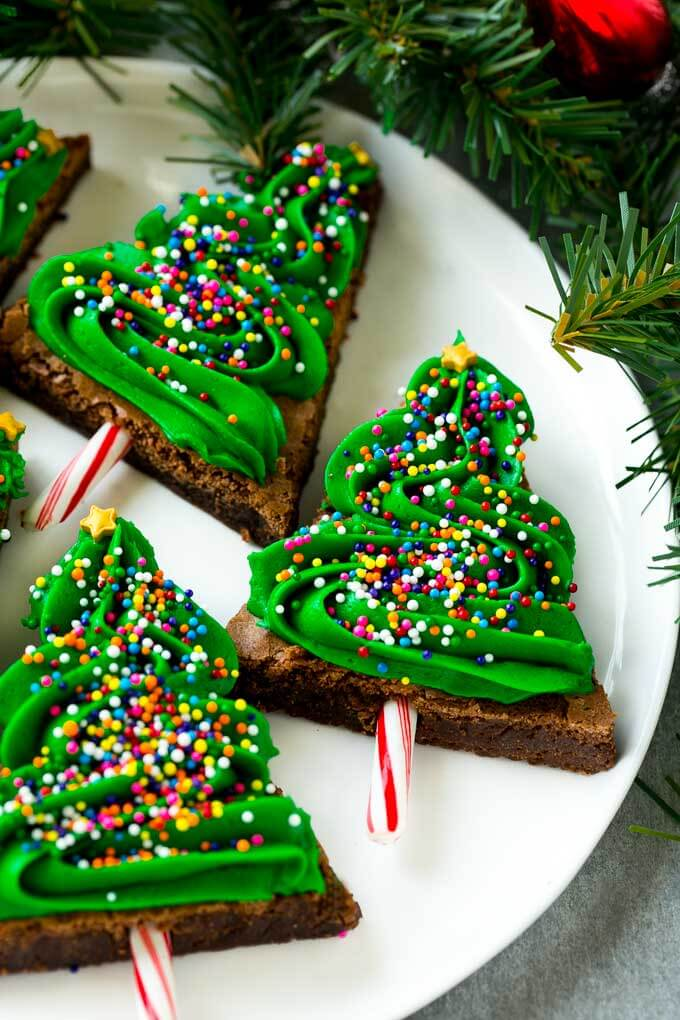 Dessert Christmas Tree Brownies Christmas Food Ideas