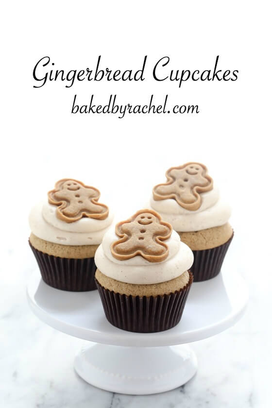 Dessert Gingerbread Cupcakes Christmas Food Ideas
