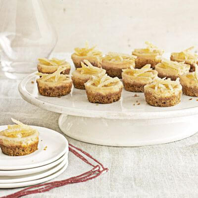 Dessert Mini Brown-Sugar Cheesecakes Christmas Food Ideas
