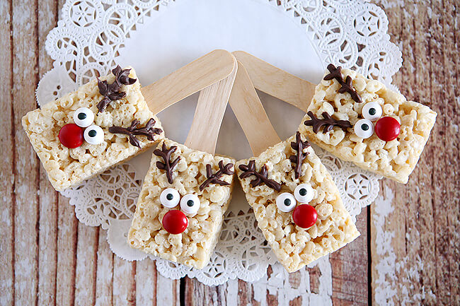 Dessert Reindeer Rice Krispies Christmas Food Ideas