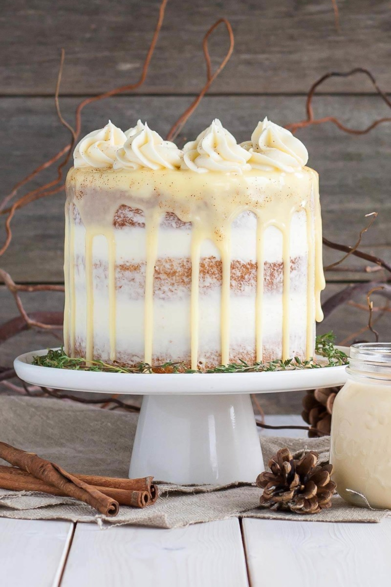 Dessert Spiked Eggnog Cake Christmas Food Ideas