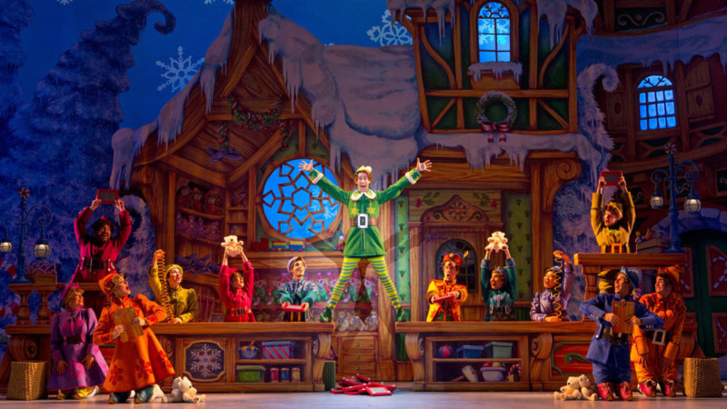 Elf the Musical at the Madison Square Garden Theatre Christmas in New York