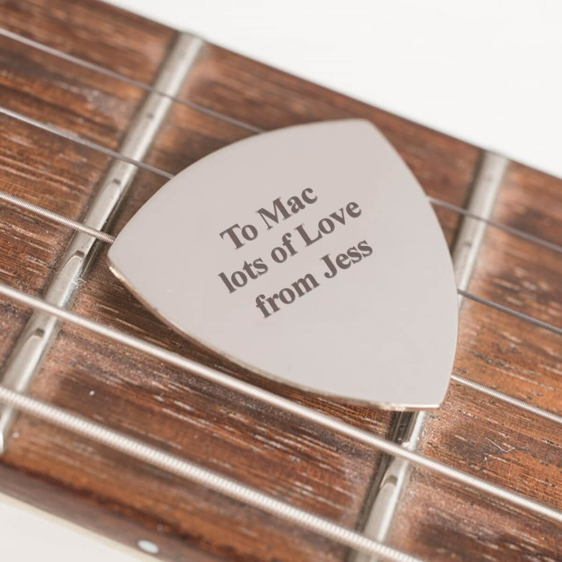 Engraved Guitar Plectrum Christmas Gift for Boyfriend