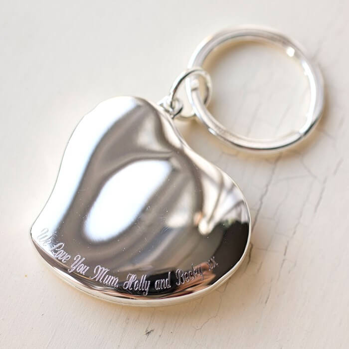 Engraved Photo Heart Locket Key Ring Christmas Gifts for Girlfriend