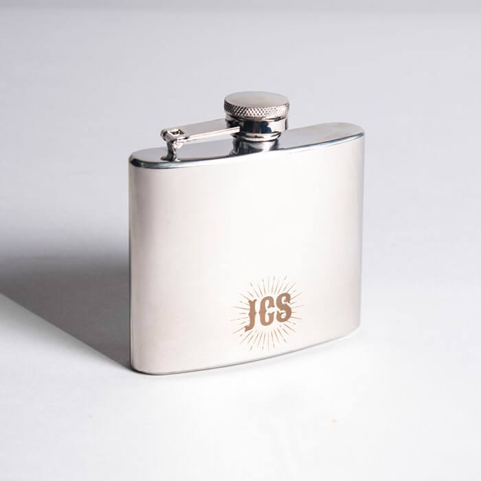 Engraved Stainless Steel Hip Flask Christmas Gift for Boyfriend