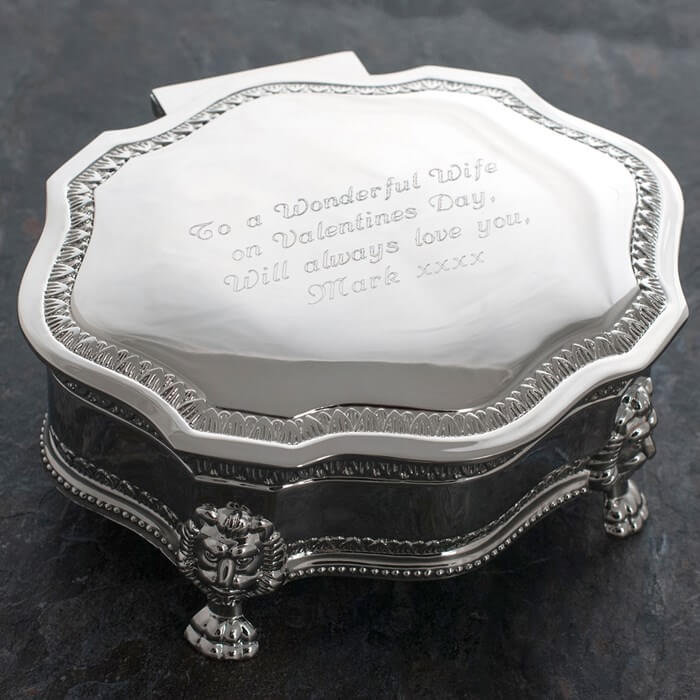 Engraved Vintage-Inspired Jewellery Box Christmas Gifts for Girlfriend