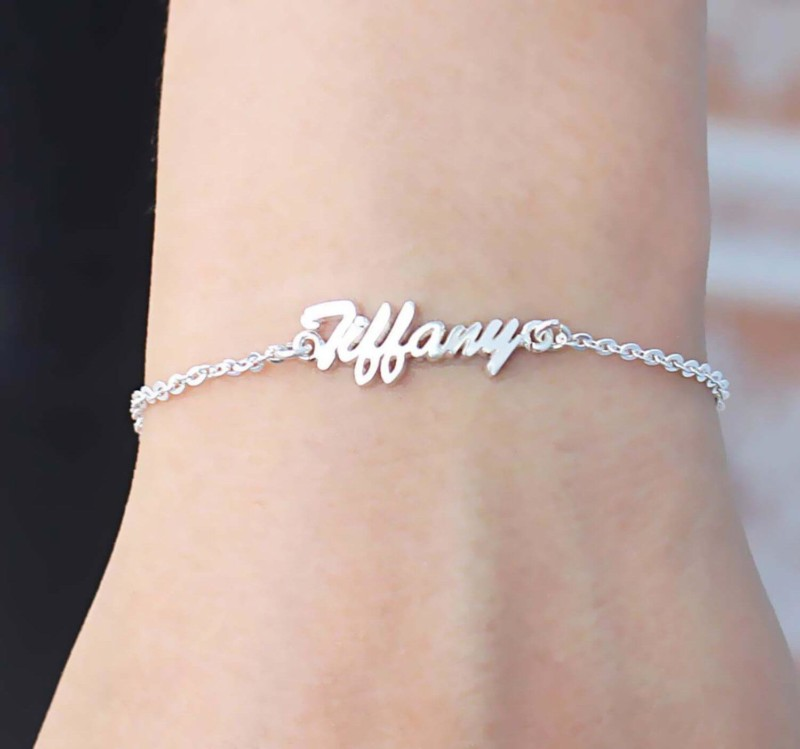 Handwriting name bracelet Christmas gifts for mom