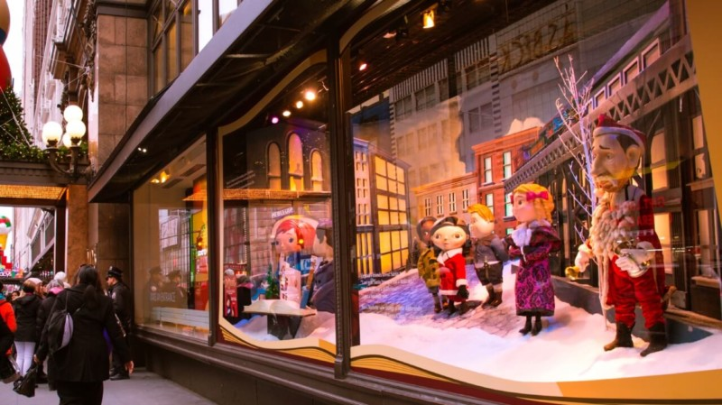 Holiday Window Displays Christmas in New York