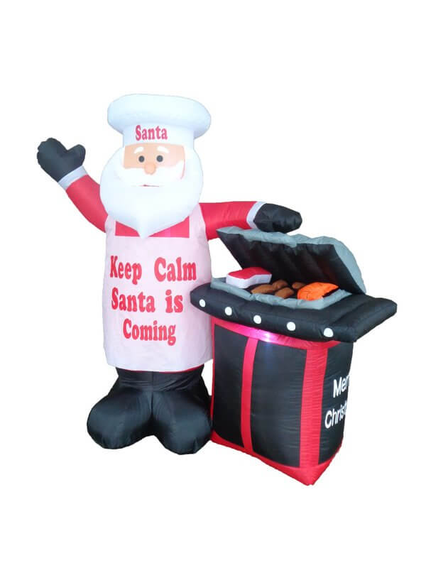 Inflatable BBQ Santa Claus Christmas Decoration Christmas Decorations on Sale