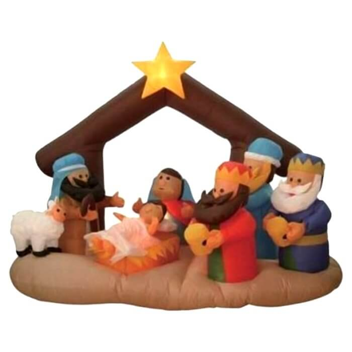 Inflatable Christmas Inflatable Nativity Scene Under Stable Decoration Christmas Decorations on Sale