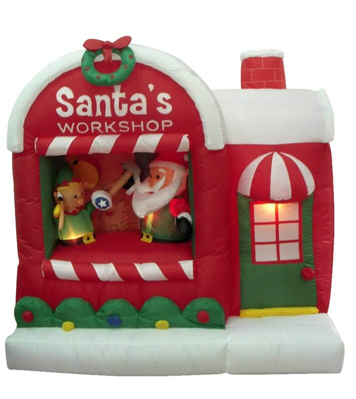 Inflatable Christmas Inflatable Santa Workshop Decoration