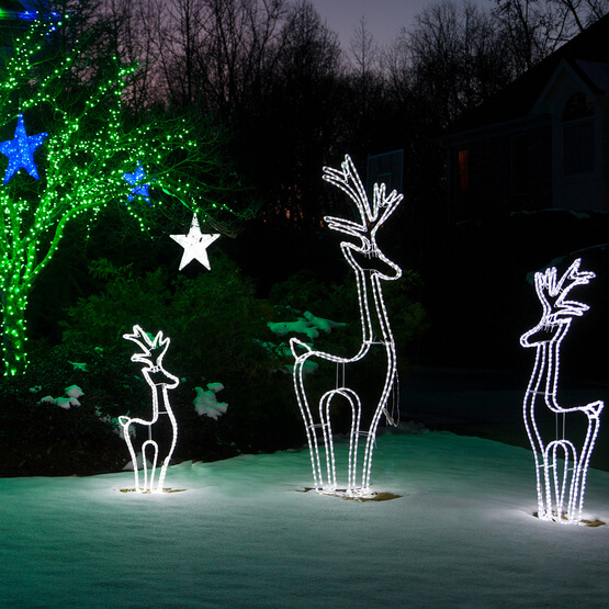 Lights LED 3D Standing Reindeer Christmas Decorations on Sale