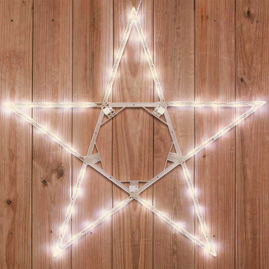 Lights LED 5 Point Folding Star, Warm White Lights Christmas Decorations on Sale