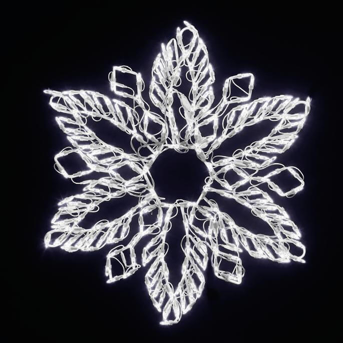 Lights Led Fern Snowflake Christmas Decorations on Sale