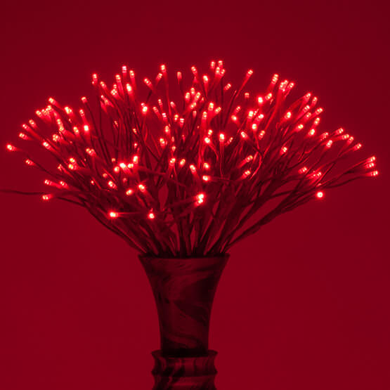 Lights Red Starburst Lighted Branches Christmas Decorations on Sale