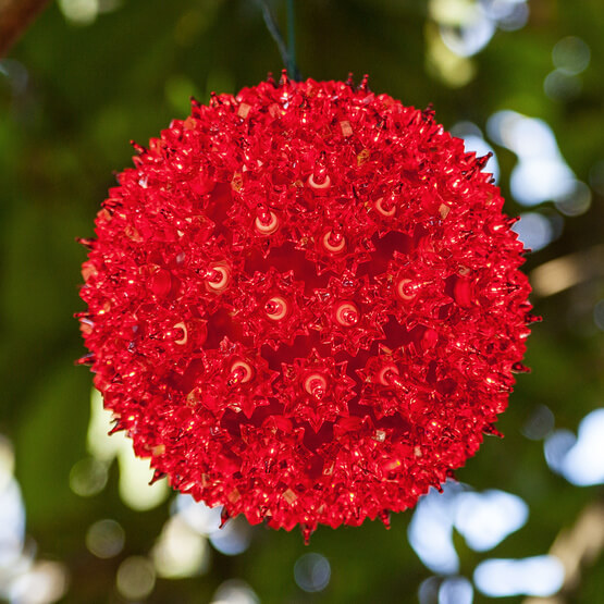 Lights Red Starlight Sphere Christmas Decorations on Sale