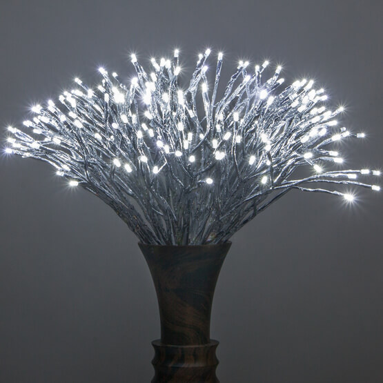 Lights Silver Starburst Lighted Branches Christmas Decorations on Sale