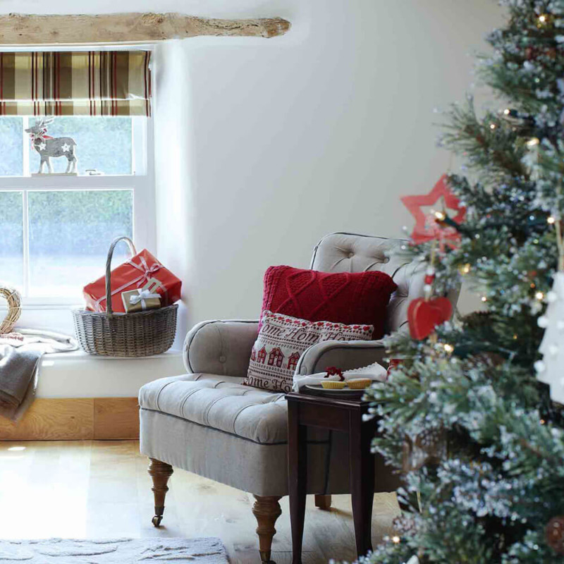 Living room innovative Christmas decorations ideas for home