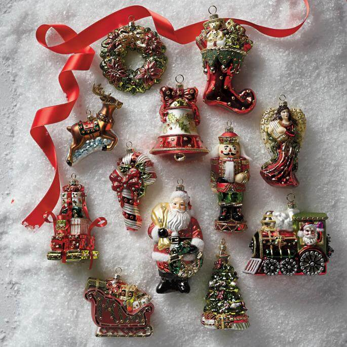 Ornaments Christmas Tidings Icon Ornaments Christmas Decorations on Sale