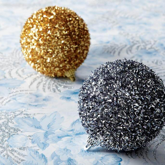 Ornaments Textured Beaded Ball Ornaments Christmas Decorations on Sale