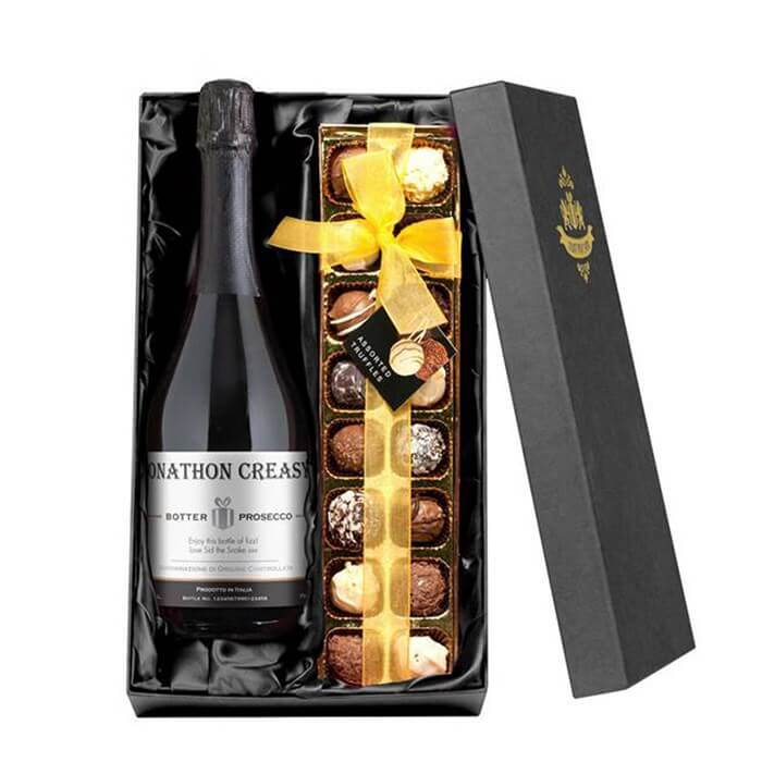 Personalised Prosecco & Chocolates Gift Set Christmas Gifts for Girlfriend