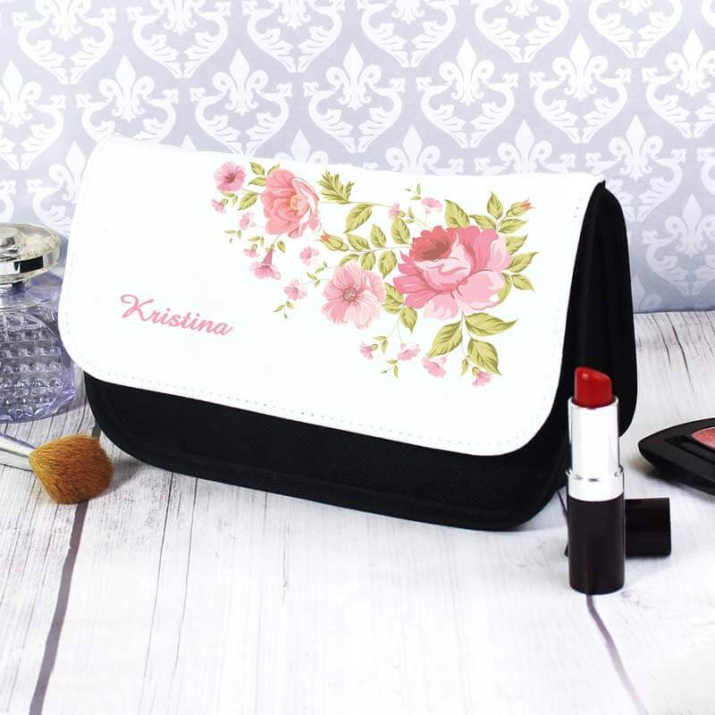 Personalised Rose Make Up Bag Christmas Gifts for Girlfriend