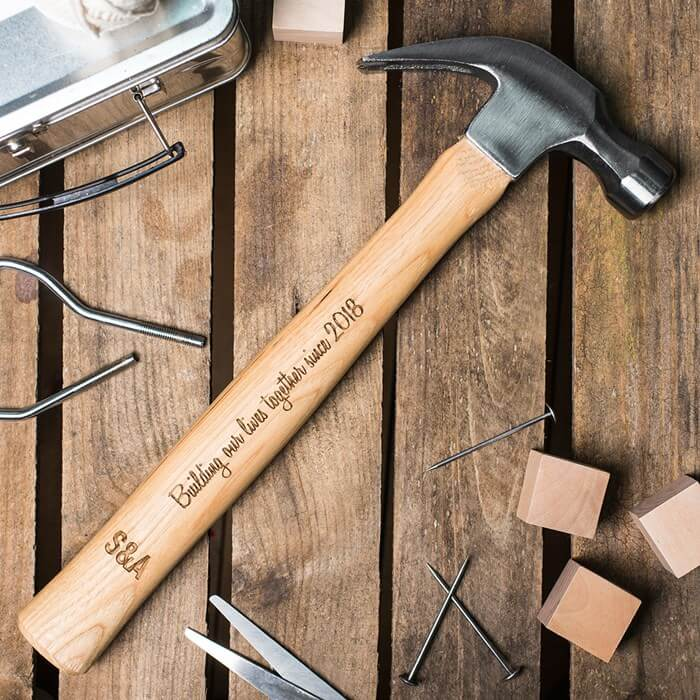 Personalised Wooden Hammer Christmas Gift for Boyfriend