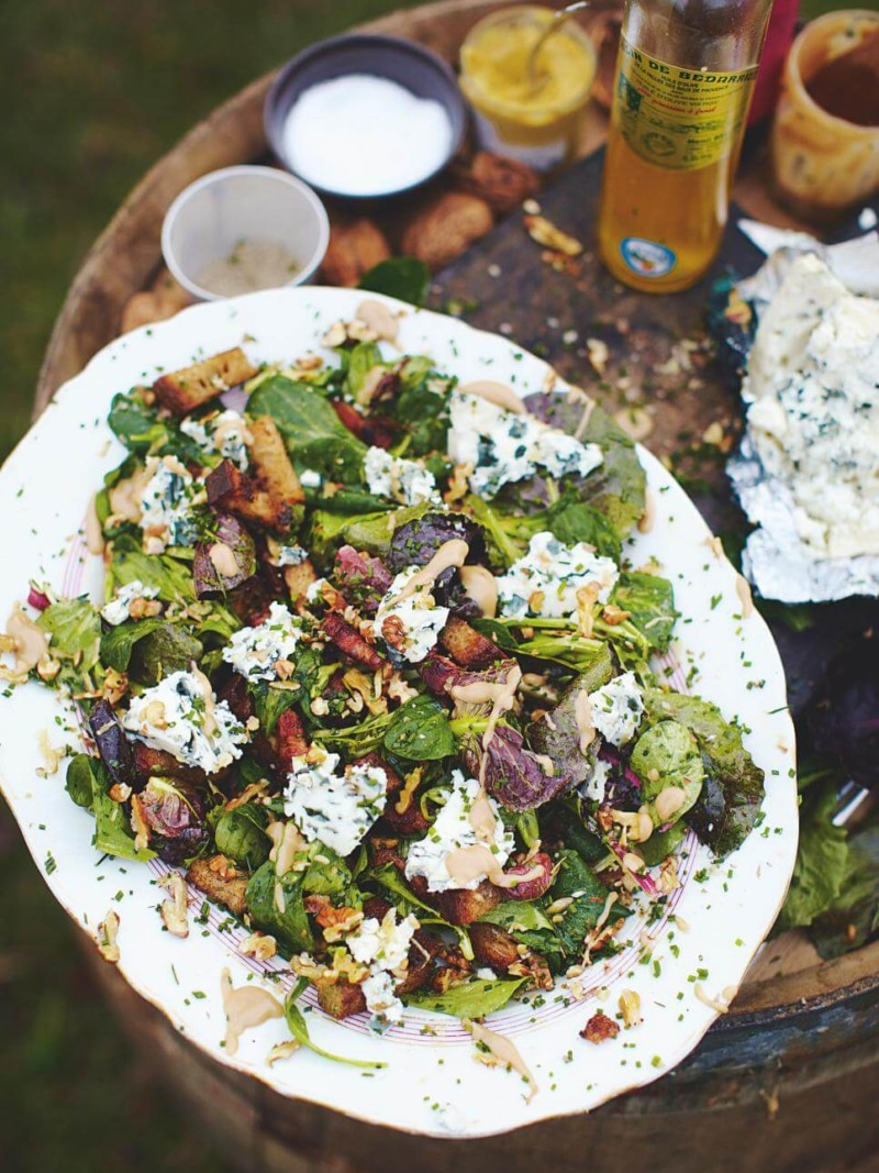 Salad Roquefort Salad Christmas Food Ideas