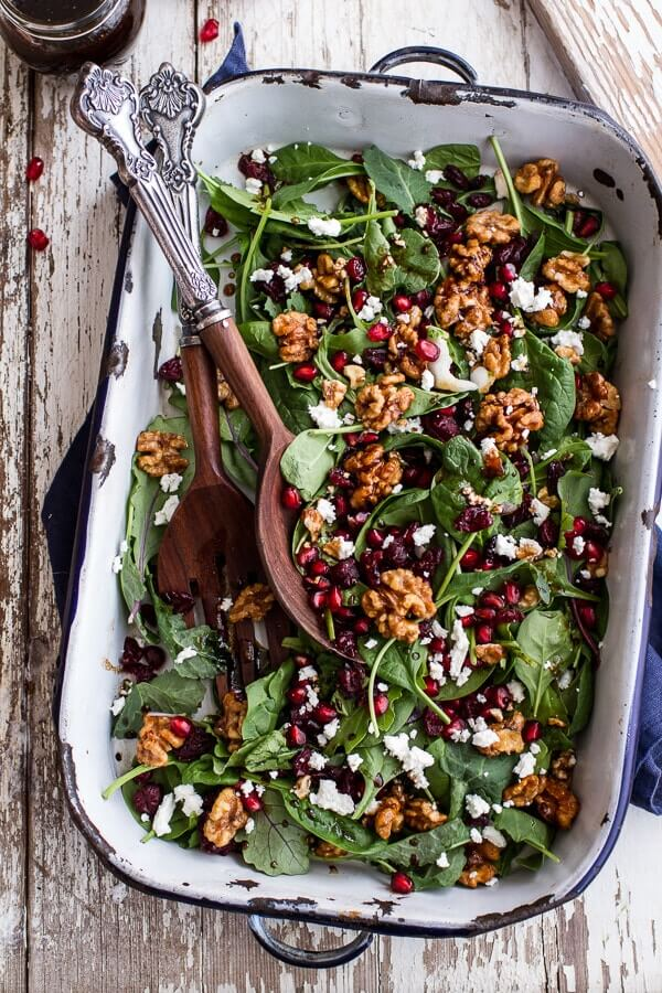 Salad Winter salad with maple candied walnuts Christmas Food Ideas