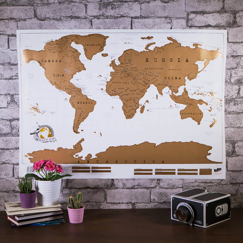 Scratch Map Christmas Gift for Boyfriend