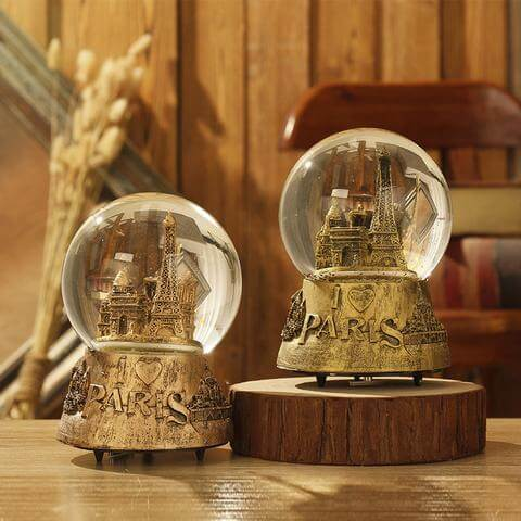 Unique Tower Snow Globe Music Box Christmas Gifts for Girlfriend