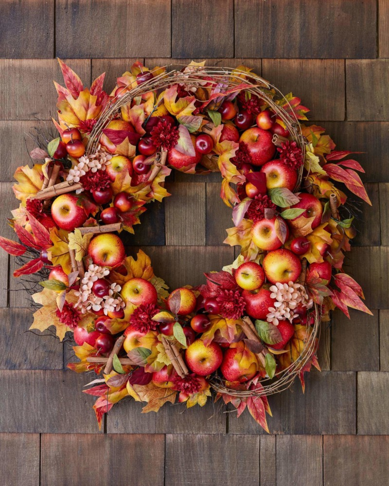 Wreath Apple Spice Foliage Christmas Decorations on Sale