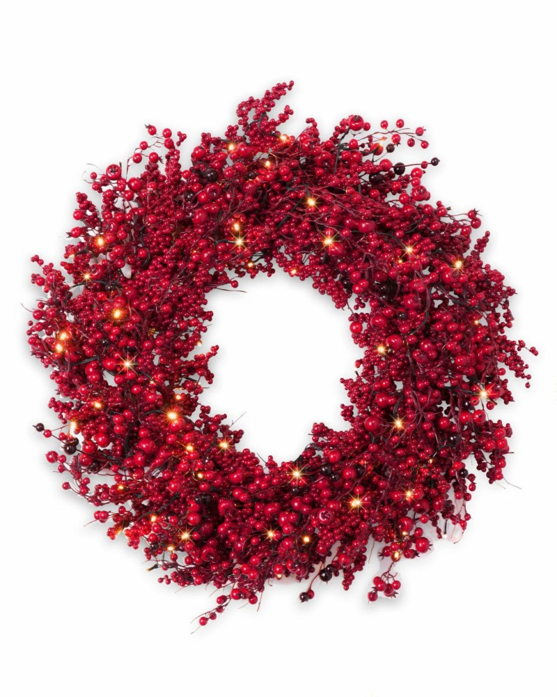 Wreath Festive Red Berry Wreath Christmas Decorations on Sale
