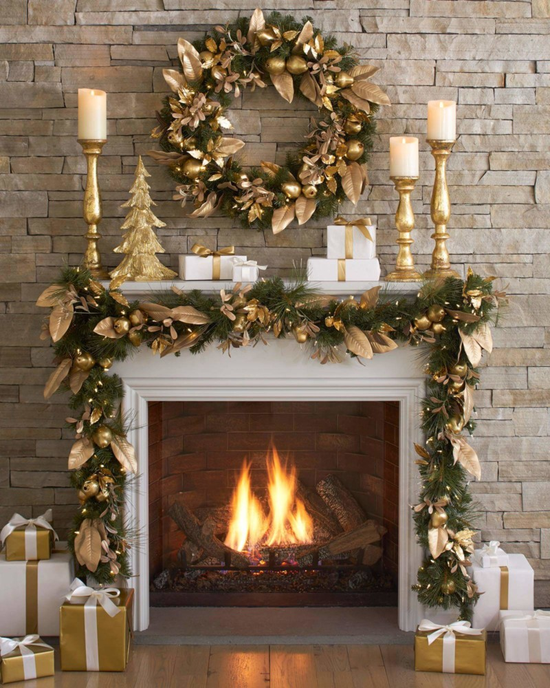 Wreath Golden Pear Decorated Foliage Christmas Decorations on Sale