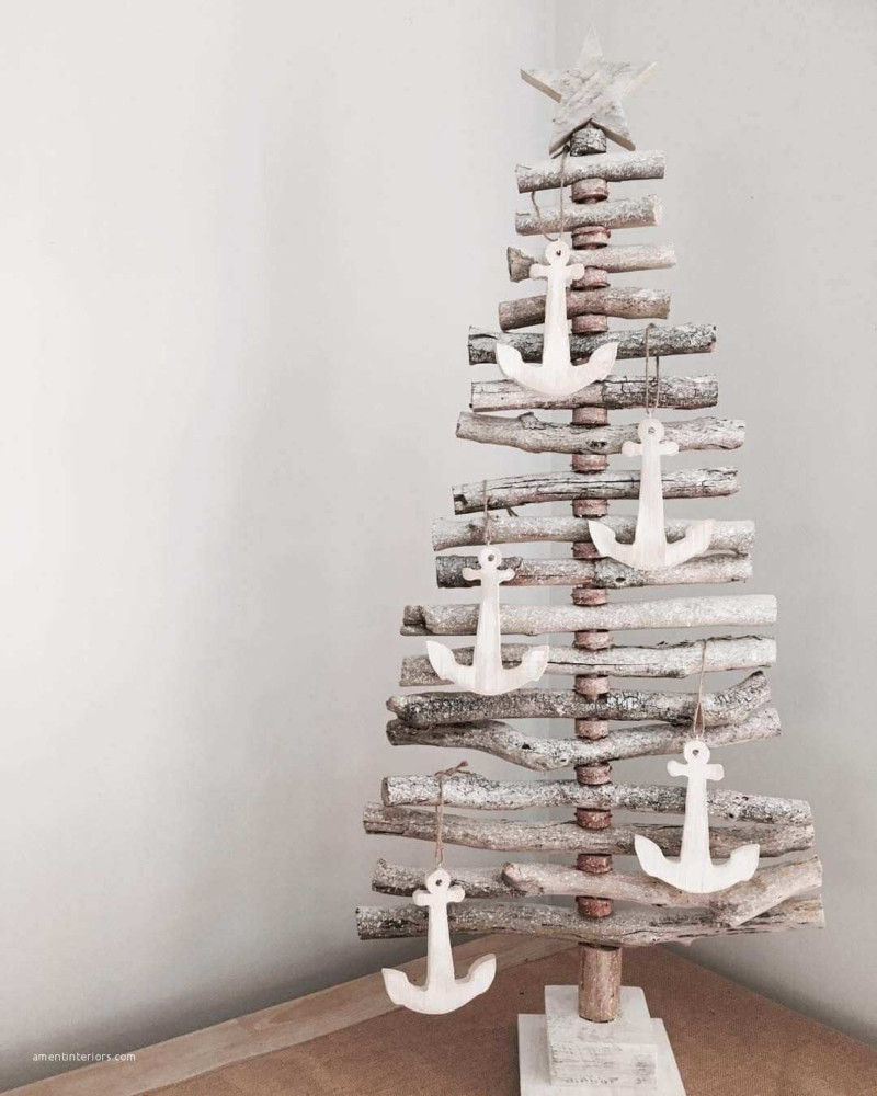 anchor wood christmas tree Christmas decorations ideas for home
