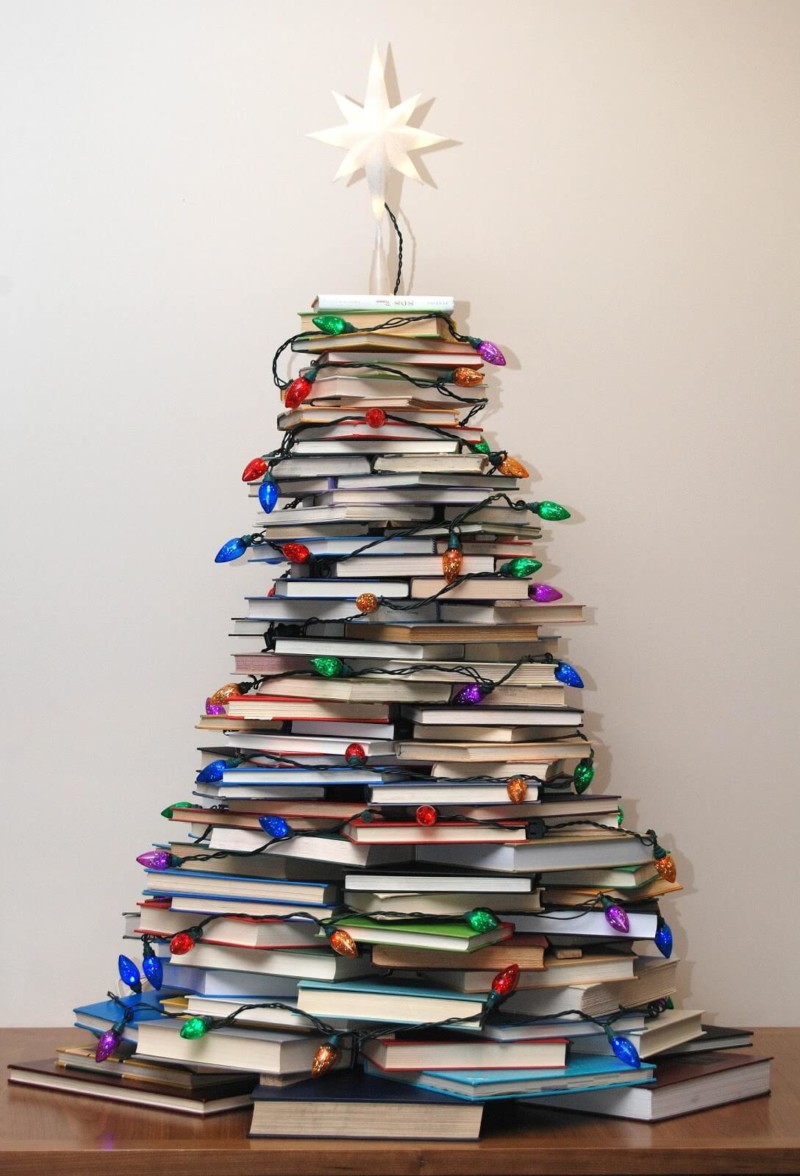 book christmas tree Christmas decorations ideas for home
