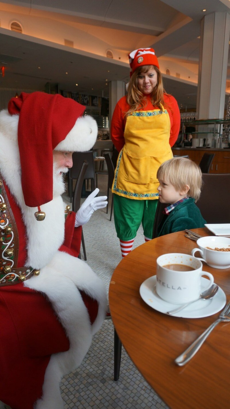 breakfast with Santa at Macy's on 34th Street Christmas in New York