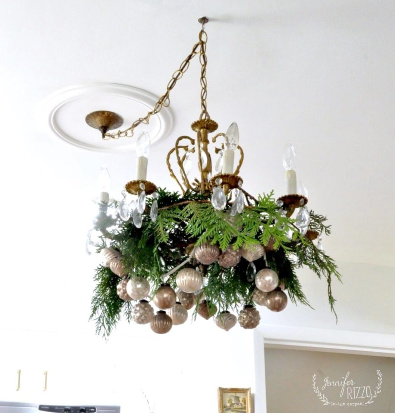chandelier ideas Christmas decorations ideas for home