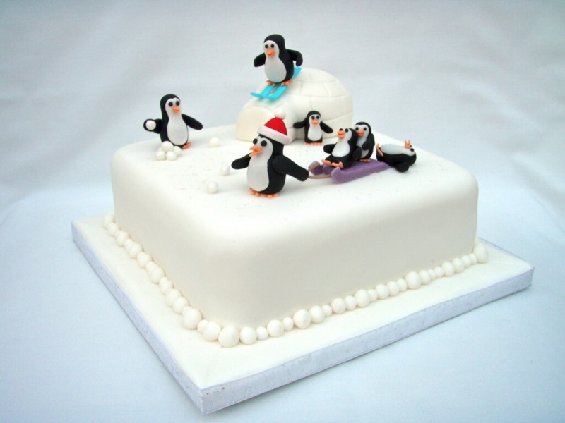 christmas cake ideas amazing penguin