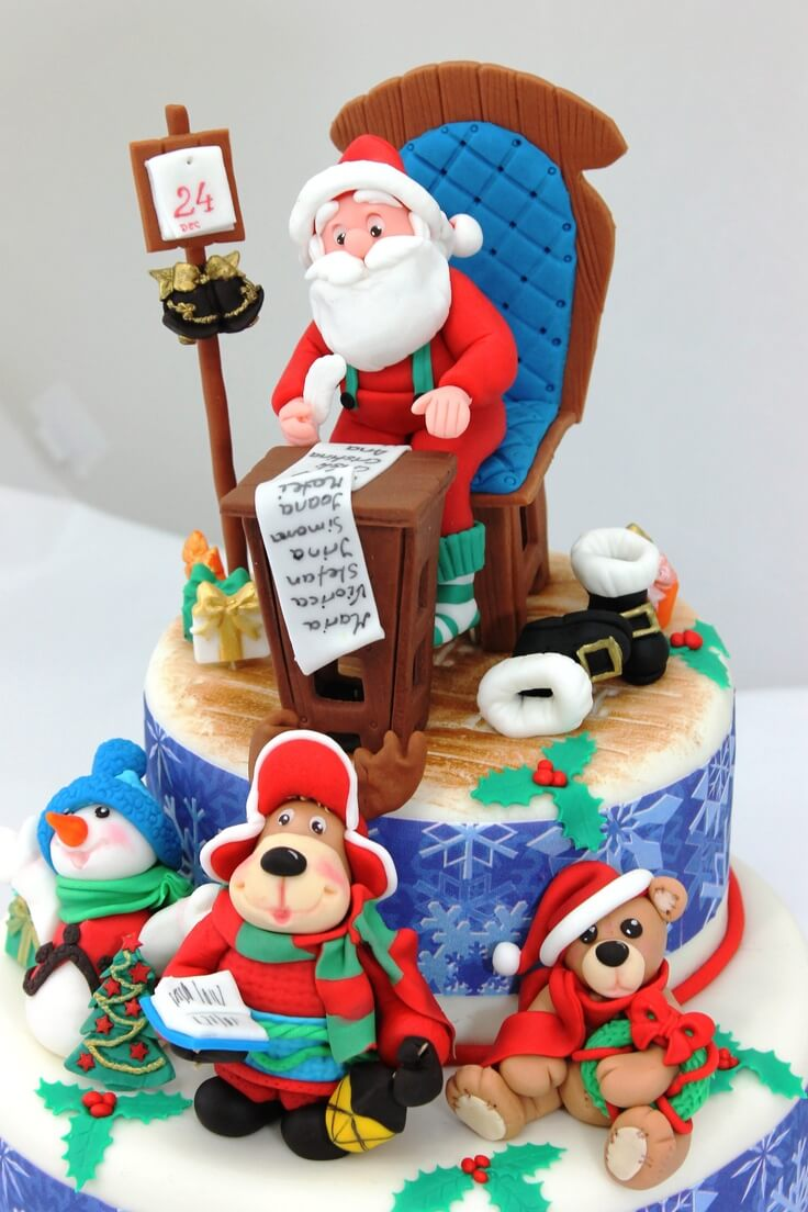 christmas cake ideas amazing santa