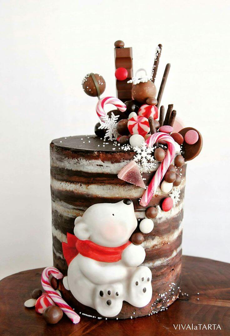 christmas cake ideas bear