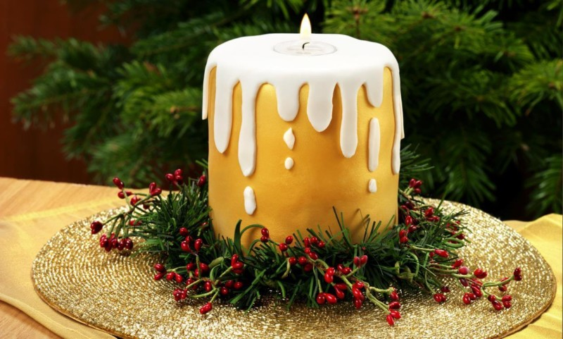 christmas cake ideas candle