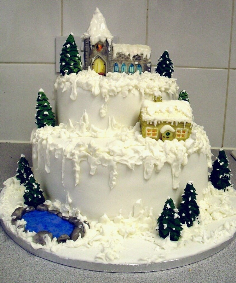 christmas cake ideas castle