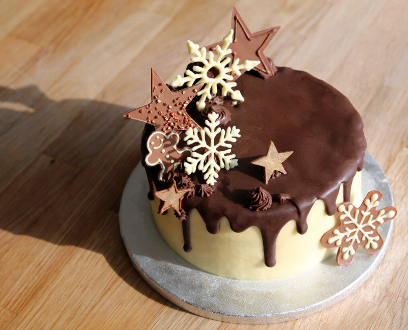 christmas cake ideas chocolate stars